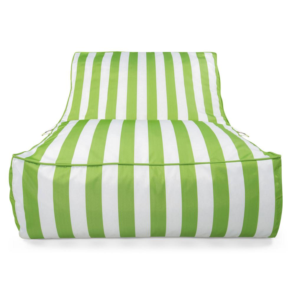 Admirable Drift Escape Stratus Sofa Bean Bag Swimming Pool Float In Green Striped Nylon Fabric Caraccident5 Cool Chair Designs And Ideas Caraccident5Info