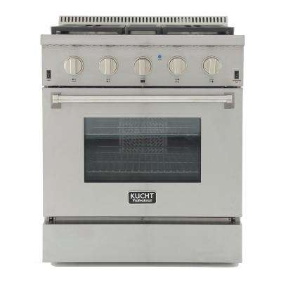 Pro-Style 30 in. 4.2 cu. ft. Dual Fuel Range with Sealed Burners and Convection Oven in Stainless Steel