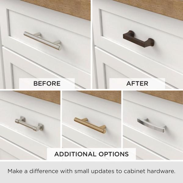 Liberty Opulent Round 3 In 76mm Center To Center Warm Chestnut Drawer Pull P38496c Wcn Cp The Home Depot