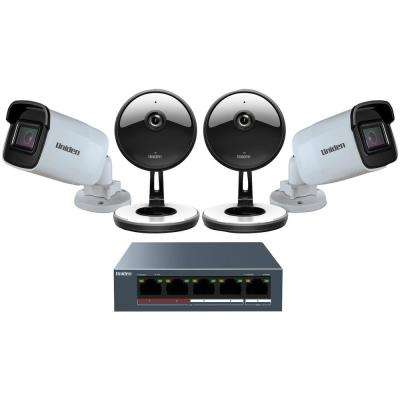 1080p 128GB Security Camera System With 4 Wired Cameras