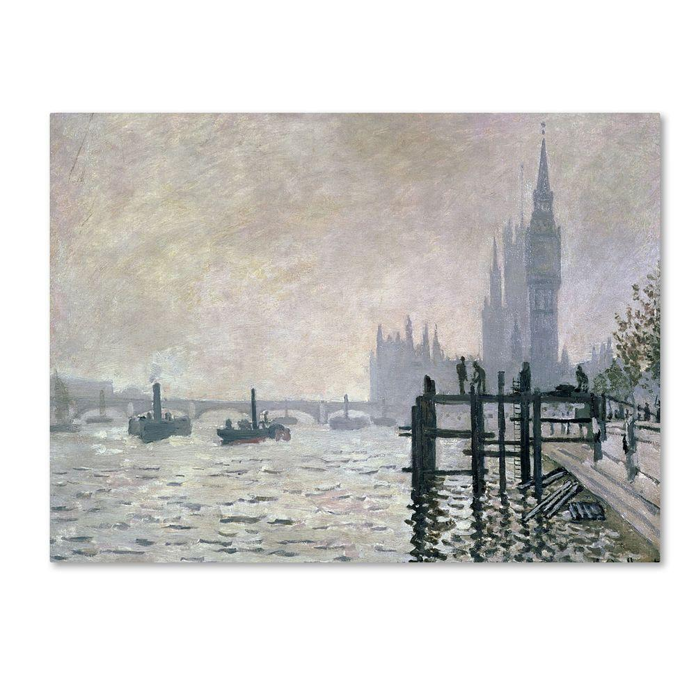 30 in. x 47 in. The Thames Below Westminster Canvas Art