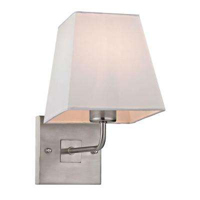 Carlyle Collection 1-Light Brushed Nickel Sconce