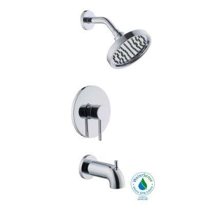 Axel Single-Handle 1-Spray Tub and Shower Faucet in Chrome (Valve Included)