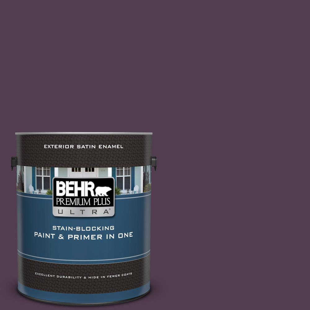 Ppu17 02 Oriental Eggplant Satin Enamel Exterior Paint And Primer In One