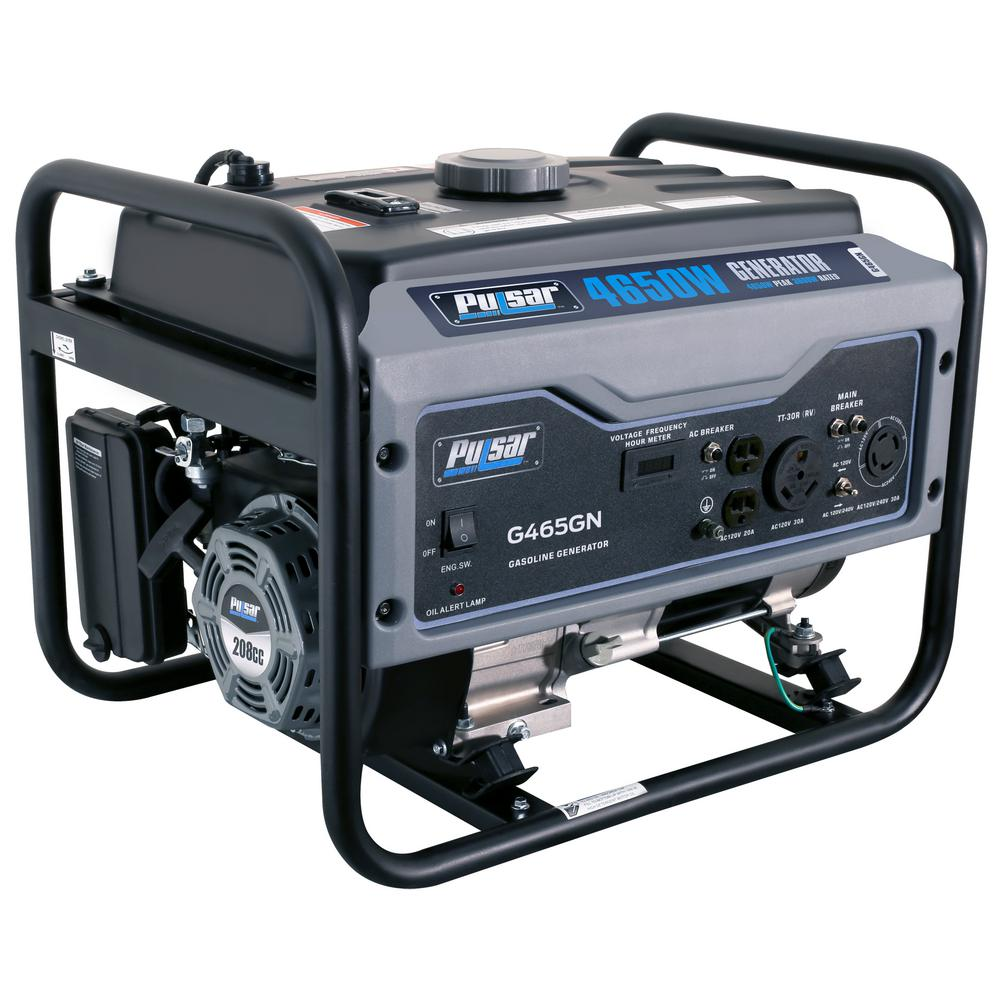 Pulsar 4,650/3,600-Watt Gasoline Powered Recoil Start Portable Generator with 208 cc Ducar Engine