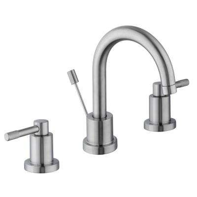 Axel 8 in. Widespread 2-Handle High-Arc Bathroom Faucet in Brushed Nickel