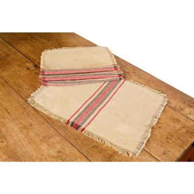14 in. x 20 in. Natural Linen Stripe Placemats (Set of 4)