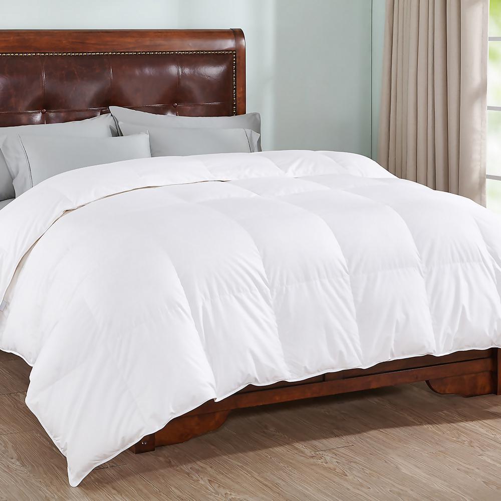 100% Cotton White King Goose Down Comforter