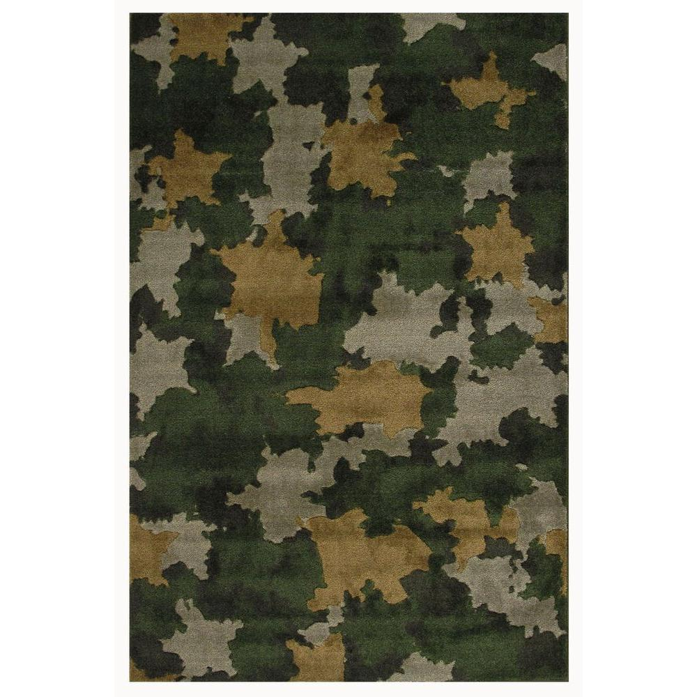 Camo Bathroom Rugs: LA Rug Supreme, Camouflage, Multi Colored 39 In. X 58 In