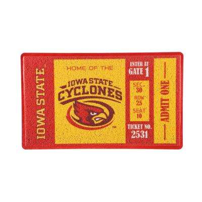 Iowa State University 30 in. x 18 in. Vinyl Indoor/Outdoor Turf Floor Mat
