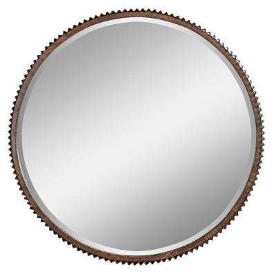 Harrison Rustic Metal Wall Mirror