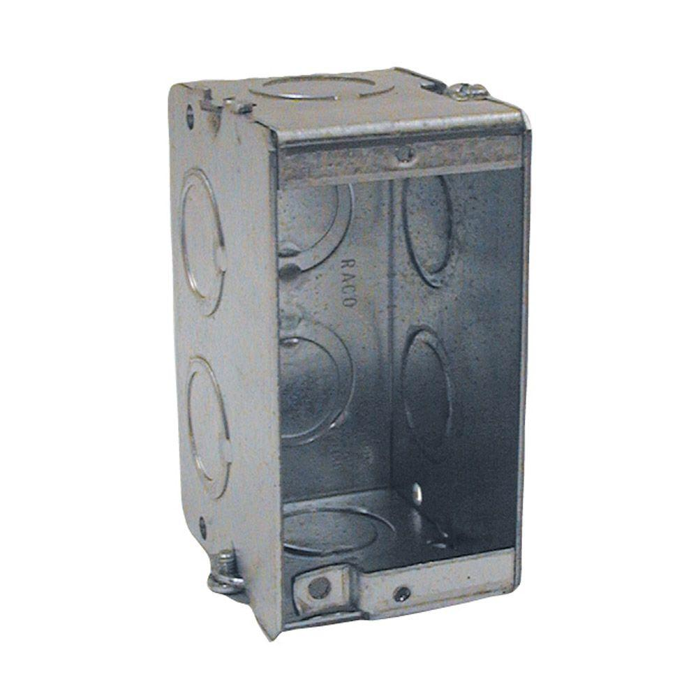RACO Gangable Masonry Box, 3-1/2 in. Deep with 1/2 and 3/4 in Concentric KO's (20-Pack)