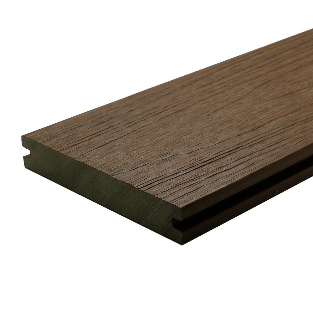 UltraShield Naturale Magellan 1 in. x 6 in. x 16 ft. Brazilian Ipe Groove Composite Decking Board (10-Pack)