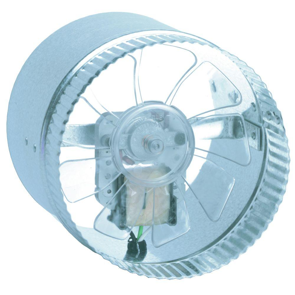 Inline Vent Fans For Bathrooms : Inductor in line duct fan db the home depot