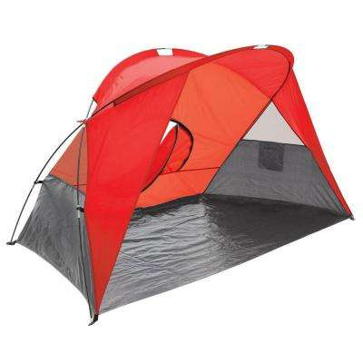 Cove Sun Shelter in Red Grey and Silver