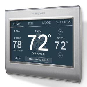 smart wi-fi 7-day programmable color touch thermostat, works with amazon  alexa