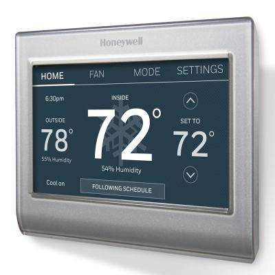 honeywell smart wi-fi 7-day programmable color touch thermostat, works with  amazon alexa, smartthings, google home, ifttt