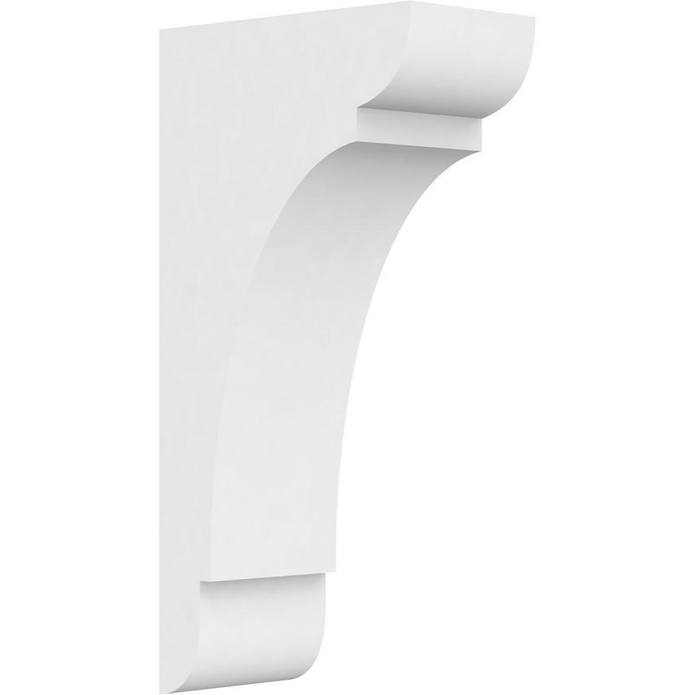 Ekena Millwork 5 in. x 20 in. x 10 in. Standard Olympic Architectural Grade PVC Corbel