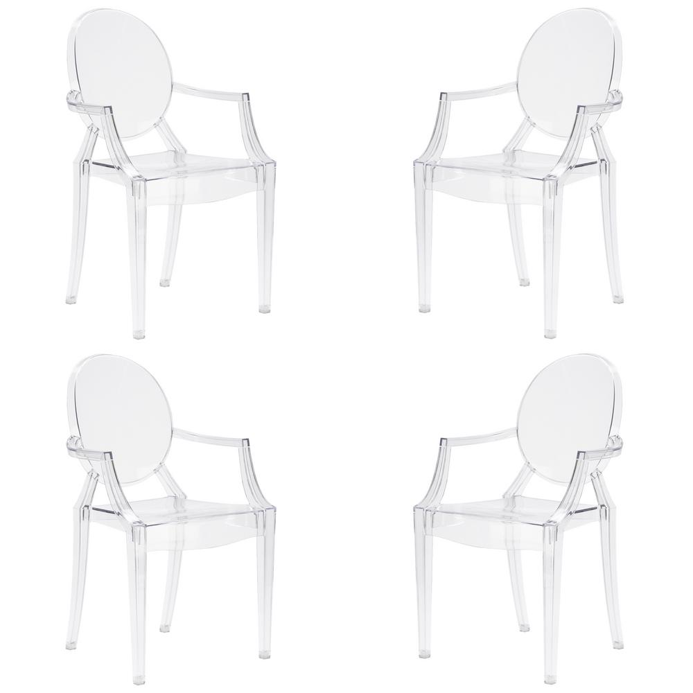 Poly and Bark Burton Clear Arm Chair (Set of 4) was $441.0 now $264.6 (40.0% off)