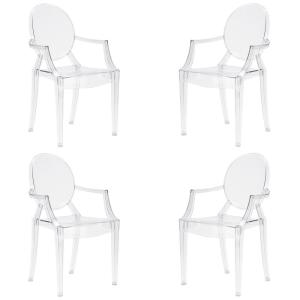Burton Clear Arm Chair (Set of 4)