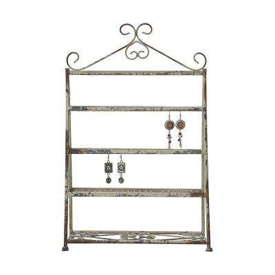 22 in. Rustic White Metal Earring Holder