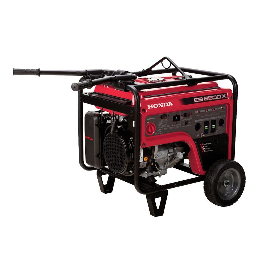 Honda 6500-Watt Gasoline Portable Generator with GFCI Outlet Protection and iGX OHV Commercial Engine