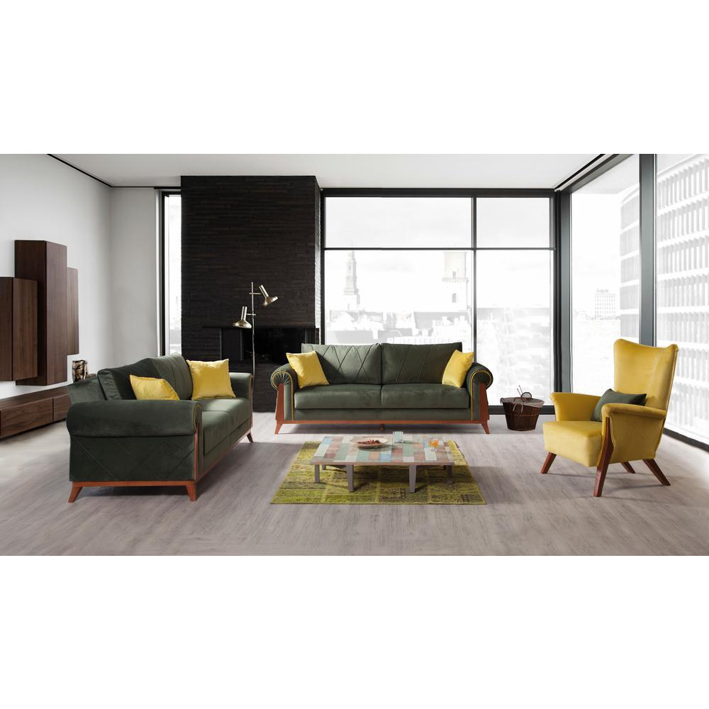 PERLA FURNITURE London Green Sofa