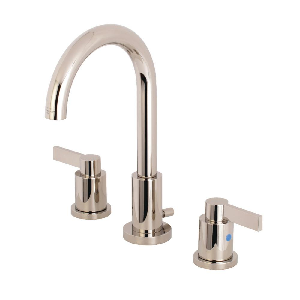 Kingston brass nuvo 8 in widespread 2 handle high arc - Polished brass high arc bathroom faucet ...