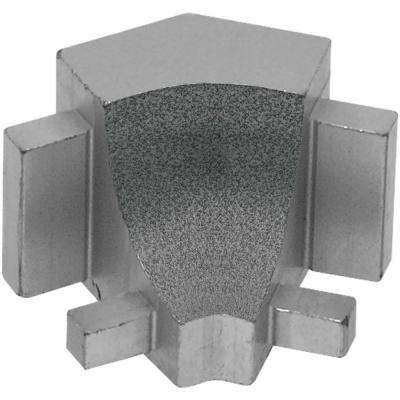 Dilex-AHK Pewter Textured Color-Coated Aluminum 1/2 in. x 1 in. Metal 135 Degree Inside Corner