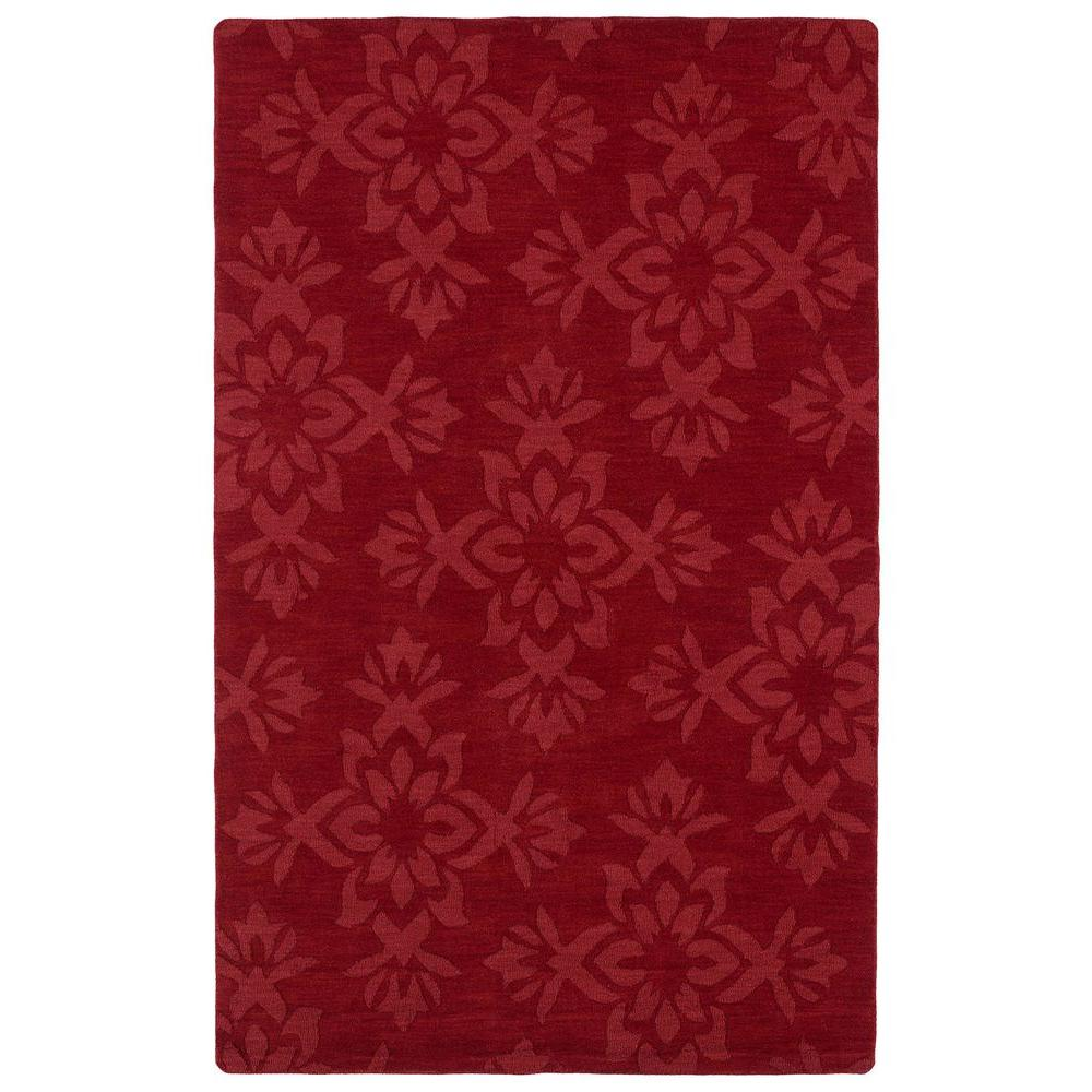 Imprints Classic Red 5 ft. x 8 ft. Area Rug