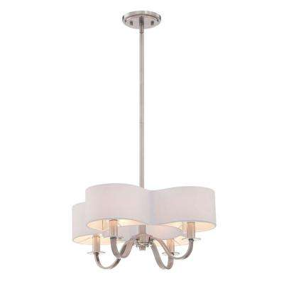 Bertucci Collection 4-Light Satin Nickel Chandelier