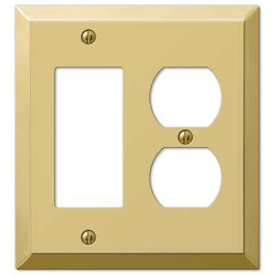 Century 1 Decorator 1 Duplex Wall Plate - Polished Brass