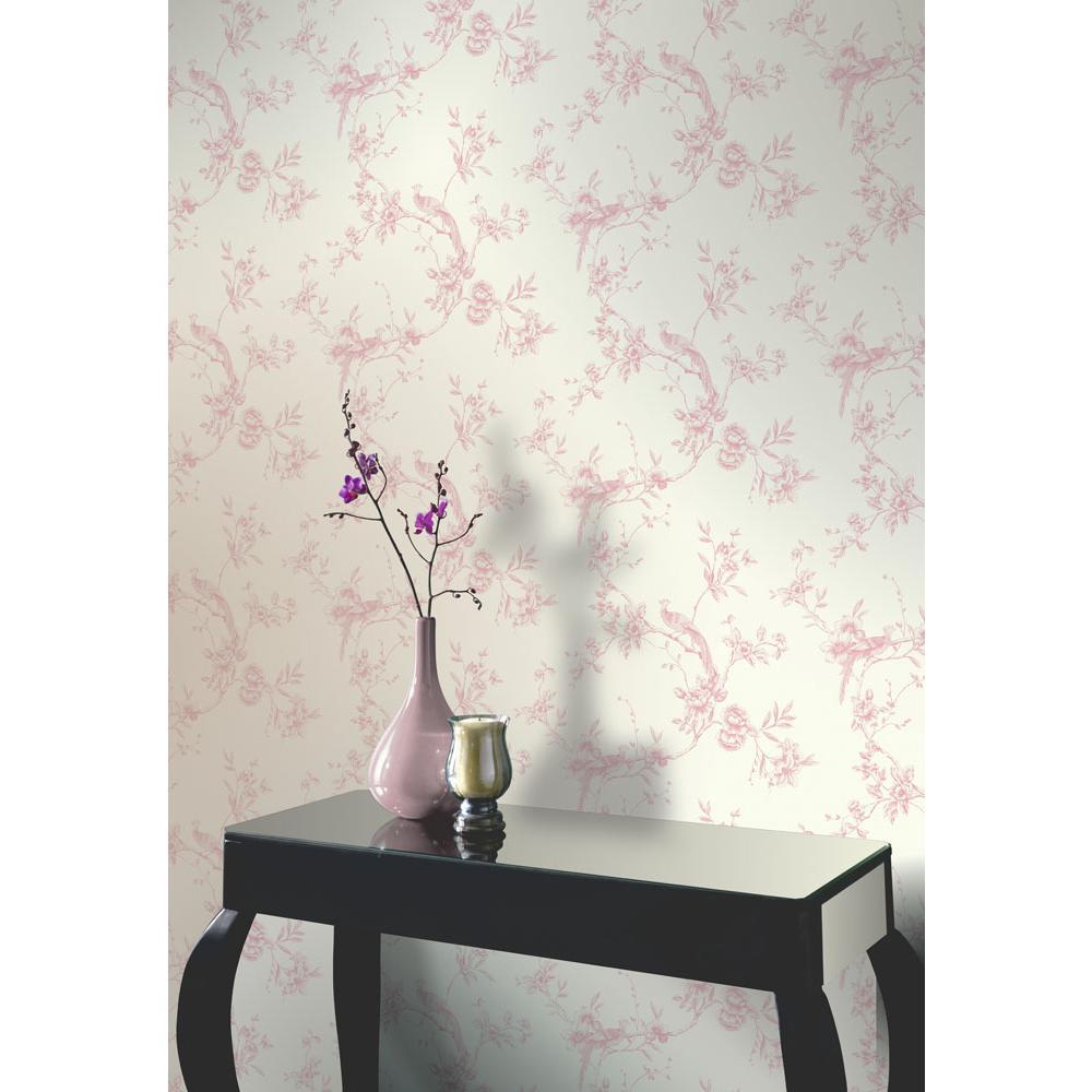Chinoise Pink Wallpaper