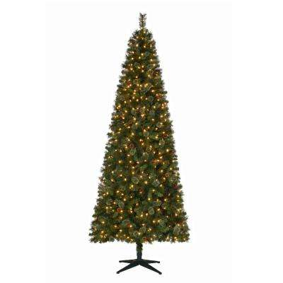 9 ft pre lit led alexander pine artificial christmas tree with 650 warm white