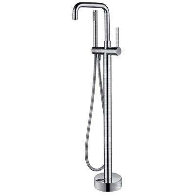 Moray Series 2-Handle Freestanding Tub Faucet with Hand Shower in Brushed Nickel