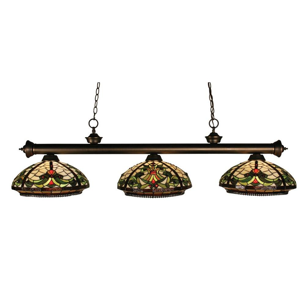 Tulen Lawrence 3-Light Olde Bronze Incandescent Ceiling Island Light