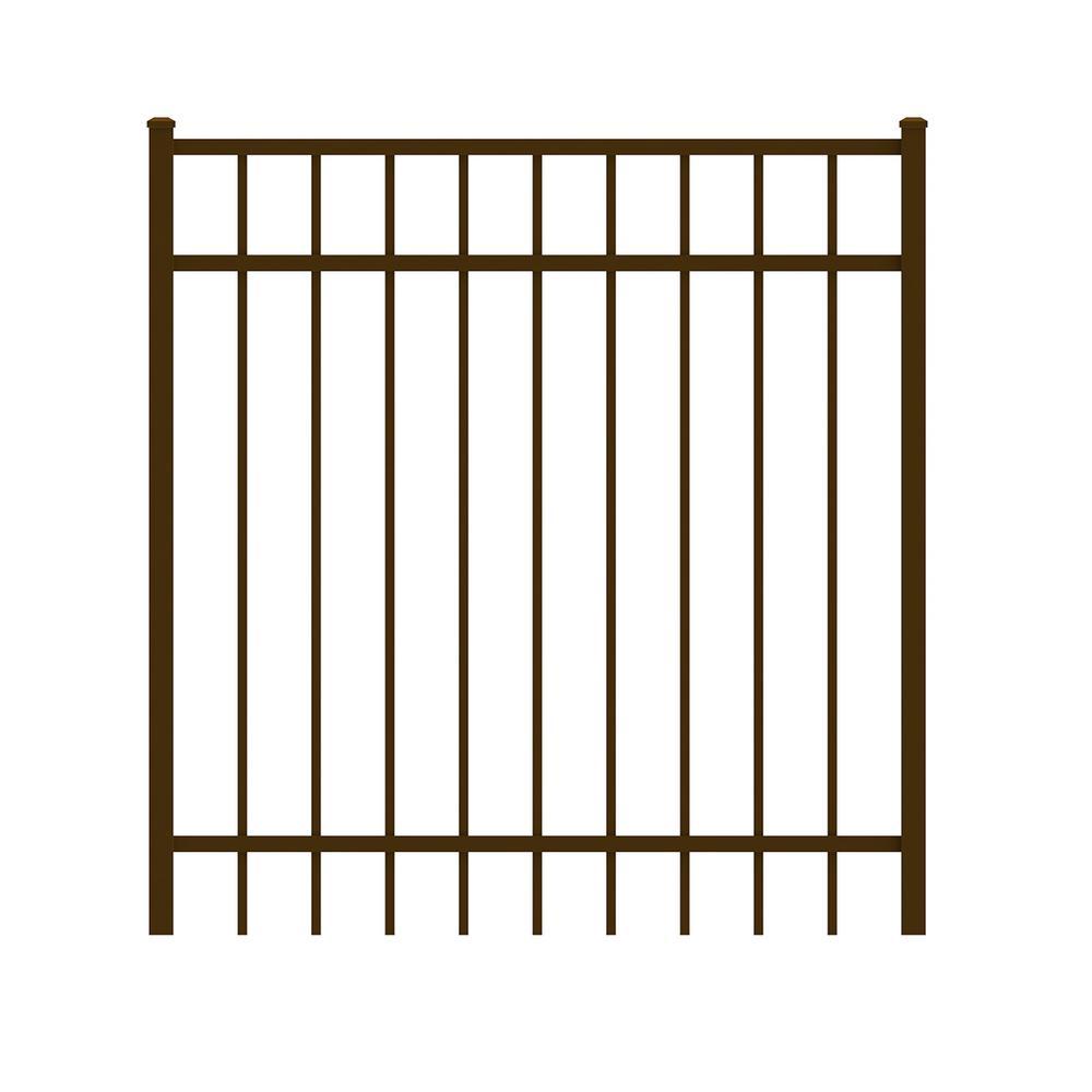 Vinings 4 ft. W x 4 ft. H Bronze Aluminum Pre-Assembled Fence Gate