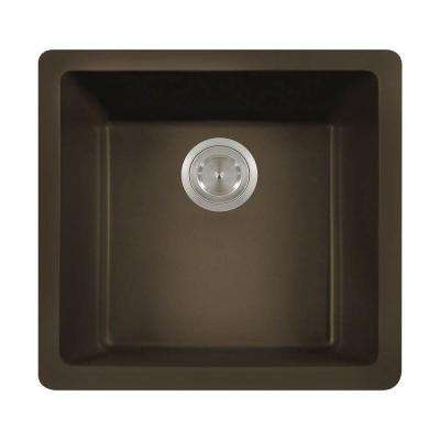 Undermount Granite 18 in. Single Bowl Kitchen Sink in Mocha