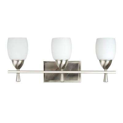 Hatt 3-Light Satin Nickel Bath Vanity Light