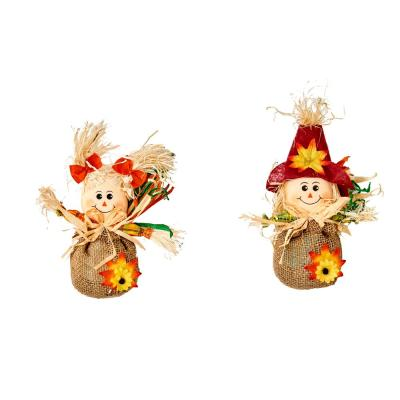 8.5 in. Scarecrow on Sack (Set of 6)