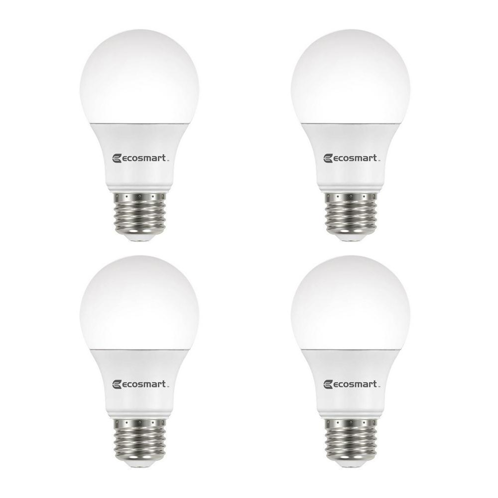 40-Watt Equivalent A19 Dimmable Energy Star LED Light Bulb, Soft White (4-Pack)