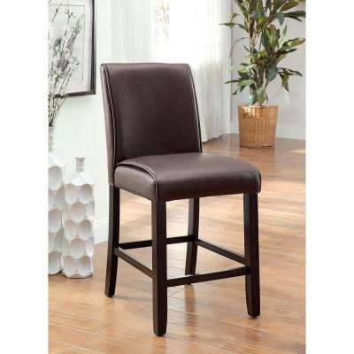 Gladstone II Dark Walnut Contemporary Style Counter Height Chair (2-Pack)