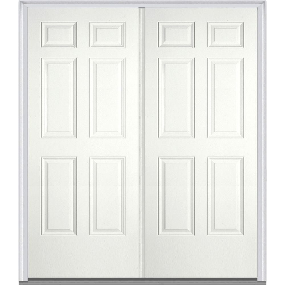 mmi door 60 in x 80 in classic left hand inswing 6 panel painted