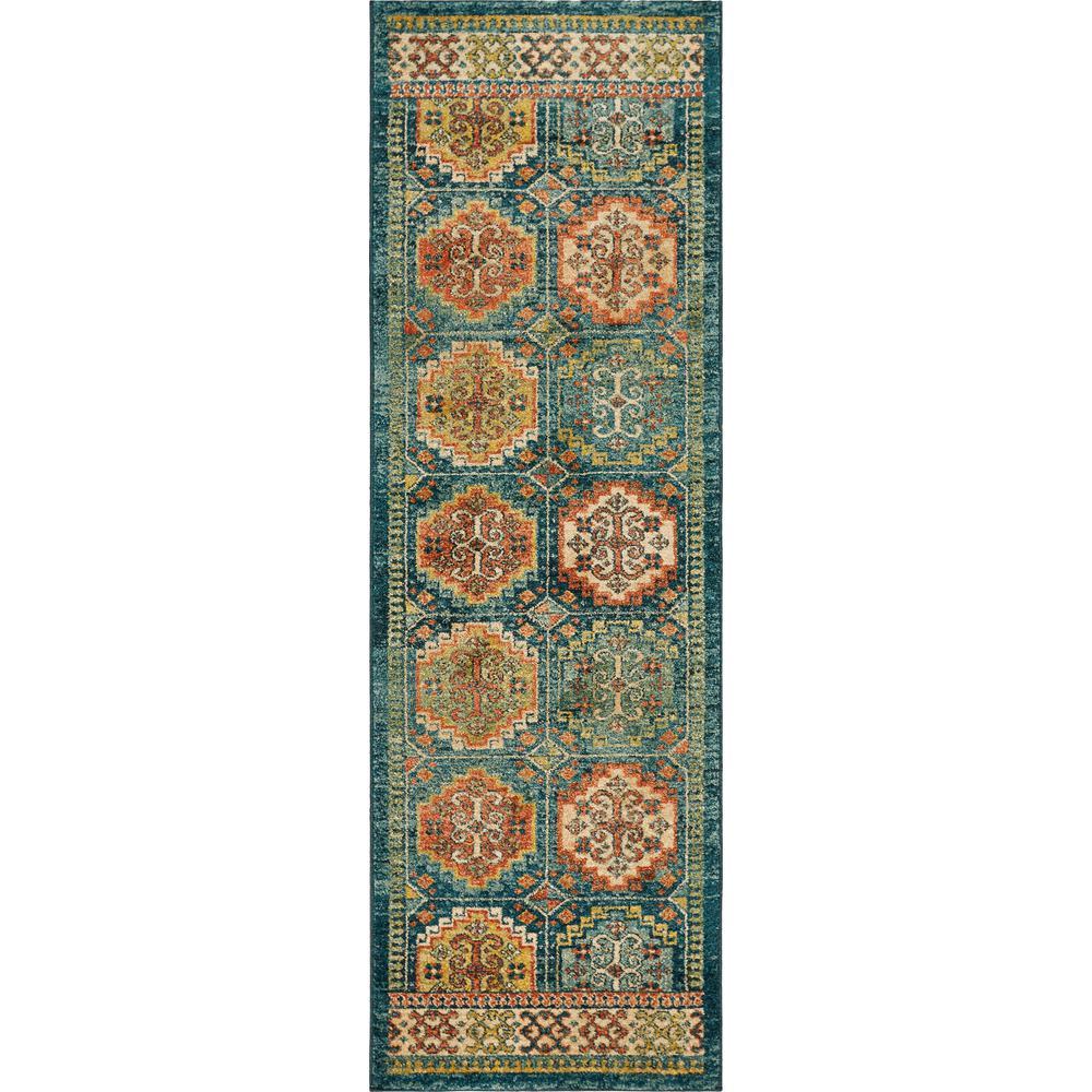 Cordoba Teal Marrakesh 2 ft. x 8 ft. Runner Rug