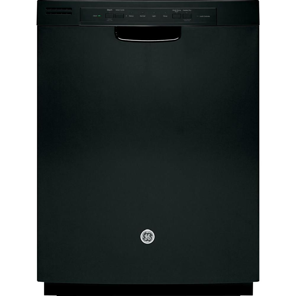 GE Front Control Dishwasher in Black
