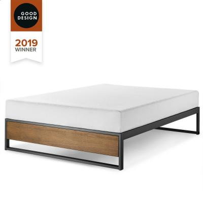 GOOD DESIGN Winner Suzanne Brown Queen 14 in. Metal and Wood Platforma Bed Frame