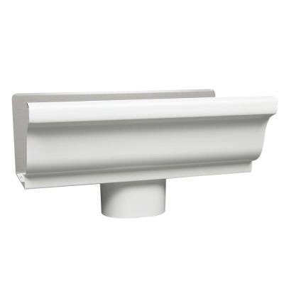 5 in. x 0.5 ft. White Aluminum End with Drop