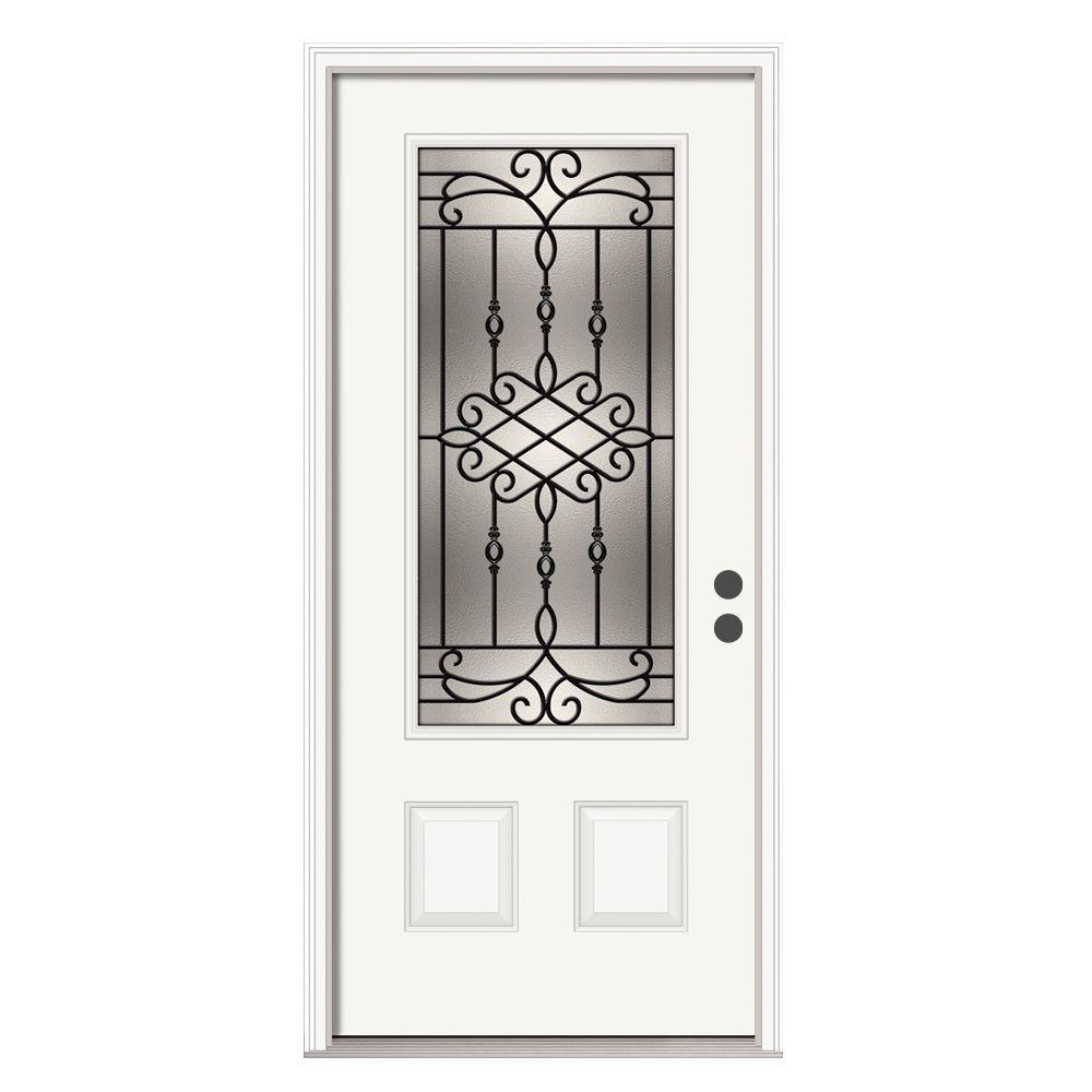 Jeld Wen Front Entry Doors: JELD-WEN 36 In. X 80 In. 3/4 Lite Sanibel Primed Steel