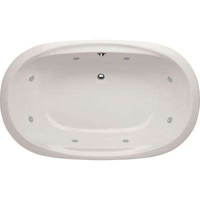 Studio Dual Oval 5.5 ft. Reversible Drain Whirlpool Tub in White