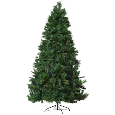 7 ft. Unlit Pine Artificial Christmas Tree with Auto Open Design and 1160 Tips